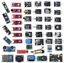 Kit Sensores Para Arduíno Uno Mega 45 Módulos
