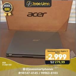 "Notebook Acer Aspire 3 A315-56-35ET 10ª Intel Core i3 8GB 512GB SSD 15,6"" Windows 10"