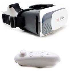 Óculos Vr Box 2.0 Realidade Virtual + Controle Cardboard 3d