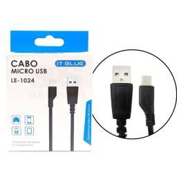 Cabo Micro USB It-Blue V8 LE-1024 Transferência de Dados e Carregamento