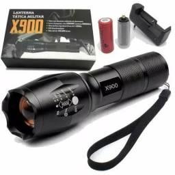 Lanterna Tatica Cree Led X900 Profissional Recarregável