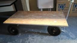 Carro plataforma 600 kgs 1,50 x 0,80 pneu com camara