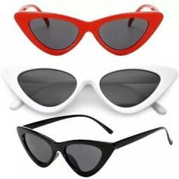 Óculos De Sol Gatinho Vermelho Uv Retrô Vintage Tumblr