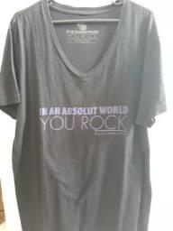 f44882ad68 2 Camisetas Ellus Originais - Edição Especial Absolut - Gola V