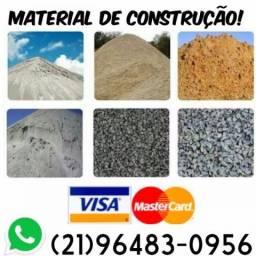 Minerais para construção: areia branca pedra brita