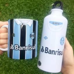 Kit personalizado do Grêmio - caneca + garrafa
