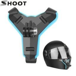 Suporte para capacete GoPro SHOOT Motocicleta Capacete Queixo Frente Montagem do Tripé