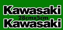 Par de adesivo do spoiler da Kawasaki Ninja 250r 300r 650 Zx6r Zx10r