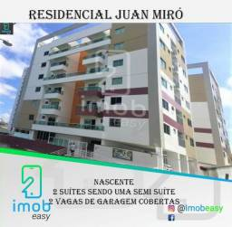 Residencial Juan Miró, 2 suítes sendo 1 semi suíte, 2 vagas de garagem coberta