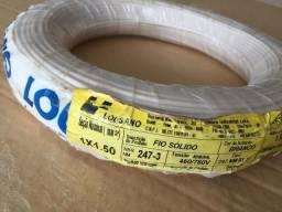Fio sólido 1,5mm² - branco - 100m
