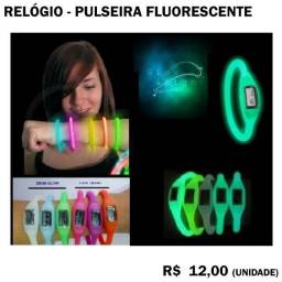 Relógio Pulseira de Silicone Fluorescente