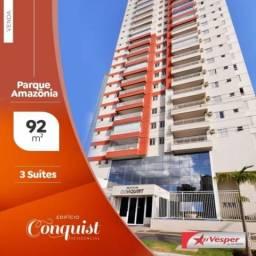 Apartamento à venda com 3 dormitórios em Parque amazônia, Goiânia cod:APV3171