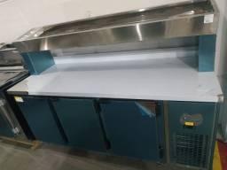 Condimentadora de 1,85 3 portas refrigerada pronta entrega *douglas