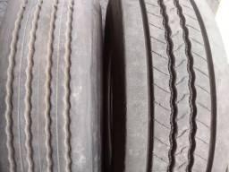 Pneus usados seminovos meia vida para caminhão com excelente qualidade