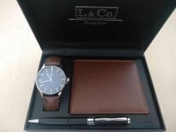 Relógio L &Co TimePieces+ Carteira + Caneta #4
