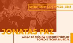Aulas de música (instrumentos de Sopro)