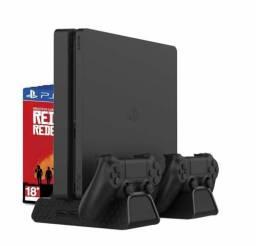 Base vertical PS4 com cooler