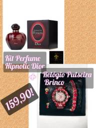 Dior Hipnotic perfume+Relógio Pulseira e Brinco!