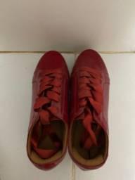 Tênis casual vermelho plataforma