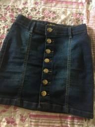 Vendo saia jeans de botão