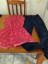 Desapego de Calça jeans/ macaquinho