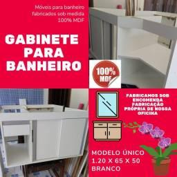 Armário / gabinete para banheiro planejado e sob encomenda fabricação própria 100%mdf