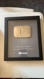 Placa Youtube - 100 mil inscritos - MODELO ANTIGO