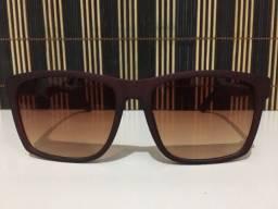 (Aceito cartão) Óculos solar unissex Quadrado, lente: Marrom da Chilli Beans