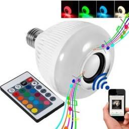 Lâmpada Som Bluetooth Com Controle (entrega grátis)