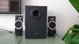 Caixas de som Creative (subwoofer + speakers)