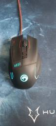 Kit Gamer Mouse e Mousepad Scorpion Marvo G909+G1 com Led RGB