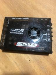 Amplificador Soundigital Sd 400w Rms 4 Canais 4 Ohms