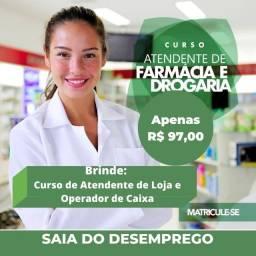 Título do anúncio: Curso atendente de farmácia