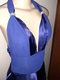 Vestido Festa Azul Royal luxo