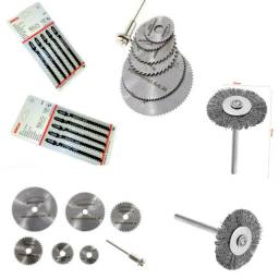 Kit Serra Tico Tico, Mini Cerra Circular, Mini Escova De Aço