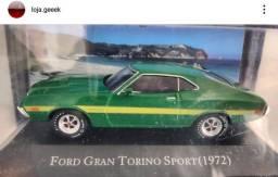 Miniatura American cars Gran Torino Sport 1972 + fascículo