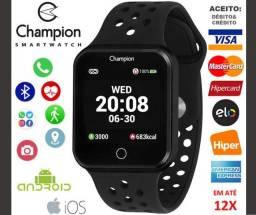 Smartwatch Champion Monitor Crardíaco, GPS, iOs e Android, Noviss, Caixa, Nota, Gar, Troco
