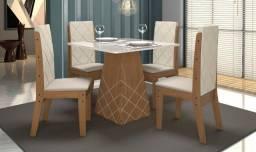 Conjunto de Mesa de 4 Cadeira- Conjunto de Mesa de Jantar- MDF-Saldão