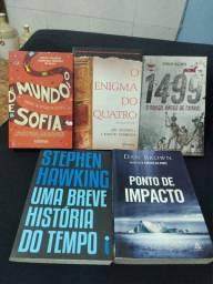 5 livros muito bem conservados.