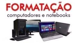 Formatação de computador e notebooks em domicílio