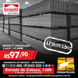 Telha 3,66 x 1,10 6mm 97,90 a vista brasilit melhor preço do mercado