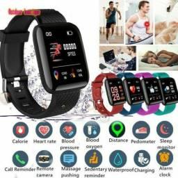 Relogio smartwatch medidor de pressão Monitora oxigenação