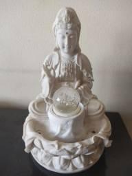 Fonte ornamental em pedra sabão iluminação em led