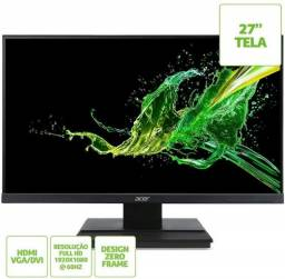 12x93 Monitor Gamer Acer 27 Led FullHd Lacrado Nota Fiscal Hdmi Dvi Vga 91.57-92.17