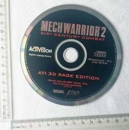 Raridade - Jogo Antigo de PC - Original - Mech Warrior 2 - 1995 - Mídia Física - Usado