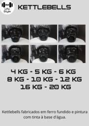 Título do anúncio: Kettlebell em ferro fundido R$ 10,00/kg À vista