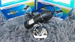 Microscópio usb 1600x com cabo otg