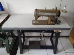 Máquina de costura industrial Singer reta e zig-zag