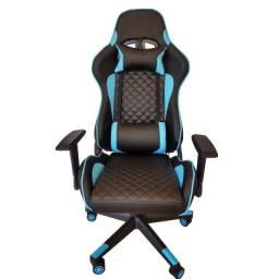 Título do anúncio: Cadeira Computador de Gamer Ergonômica Preta e Azul