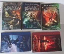 Livros Percy Jackson (todos)